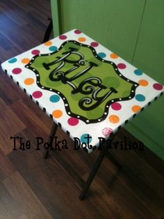 Personalized TV trays