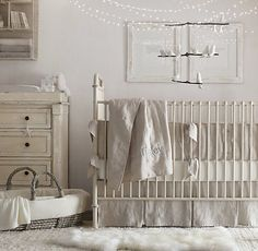 Washed Organic Linen Nursery Bedding Collection | Nursery Bedding Collections | Restoration Hardware Baby & Child... crib skirt and bumper
