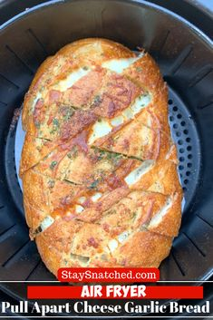 Air Fryer Pull Apart Cheese Garlic Bread - Air Fryer Pull Apart Cheese Garlic B.- Air Fryer Pull Apart Cheese Garlic Bread – Air Fryer Pull Apart Cheese Garlic Bread is a quick and easy recipe that will show you how to make – Air Fryer Recipes Vegetables, Air Fryer Recipes Snacks, Air Fryer Recipes Low Carb, Air Frier Recipes, Air Fryer Recipes Breakfast, Air Fryer Dinner Recipes, Vegetable Recipes, Chicken Recipes, Airfryer Breakfast Recipes