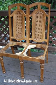 How To Make a Bench From Two Chairs :: Hometalk