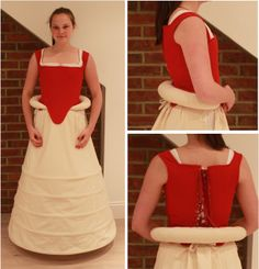 """Tudor Costume: Farthingale and Roll. Patterns adapted from """"The Tudor Tailor"""""""