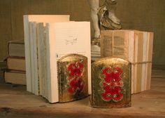 Vintage Italian Wooden Bookends by AmericanVintageFare on Etsy