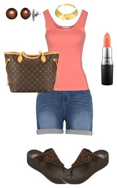"""""""Untitled #1873"""" by yvettestarr on Polyvore featuring MAC Cosmetics, Melissa McCarthy Seven7, Paule Ka, Louis Vuitton, Alexa Starr and Honora"""