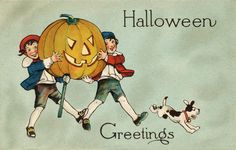 vintage halloween card free printable