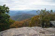 View from the Appalachian Trail hike to the Blood Mountain summit in Georgia