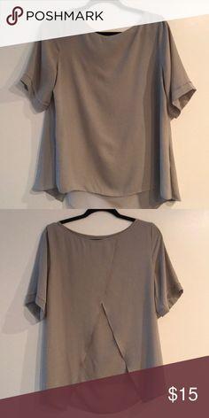 Grey blouse from Banana Republic Grey blouse from Banana Republic. Like new; barely worn. Banana Republic Tops Blouses