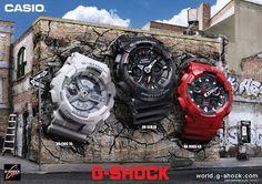Zona Casio: Pósters: el muro de los G-Shock antimagnéticos