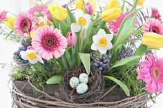Making A Rustic Spring Basket