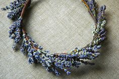 Lavender  Bridal Flower Crown Dried Lavender and Dried Flowers for Brides, Bridesmaids, Flower girls $54