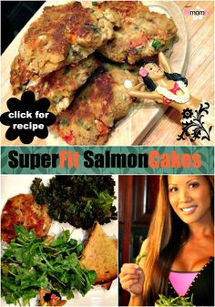 What's for dinner tonight? How about high protein, Super Fit Salmon Cakes? LOVE these! & so do my 2 kids!