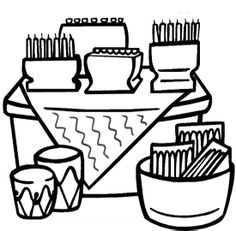 the many and great kwanzaa coloring page