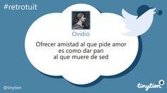 El #retrotuit de hoy, por Ovidio ;) #amistad
