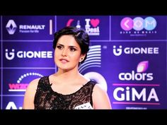 Zarine Khan in transparent dress at the red carpet of the GiMA Awards 2016.