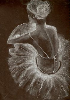 Another White Chalk on black paper, by Amanda Shepherd. Chalk Pastel Art, Pastel Artwork, Chalk Pastels, Chalk Art, Ballet Drawings, Art Drawings, Pencil Drawings, Illustrations Pastel, Ballerina Kunst