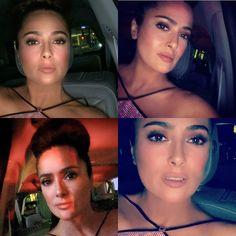 "Gefällt 271.8 Tsd. Mal, 1,840 Kommentare - Salma Hayek Pinault (@salmahayek) auf Instagram: ""#carselfies  On my way back from the @gucci @lacma Galla 🤳. De regreso a 🏠 en el 🚗"" Car Selfies, Selma Hayek, Just For Fun, My Way, Gucci, Celebrities, Aurora, Instagram, Celebs"