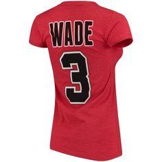 ff5ed2b53b6 Women s Chicago Bulls Dwyane Wade adidas Red Name   Number T-Shirt  Bulls