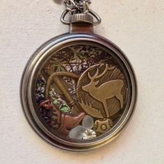 Mossy Oak Girl - hunting Locket Necklace with floating trinkets on Etsy, $25.00 Great gift for my hunter friends!!!