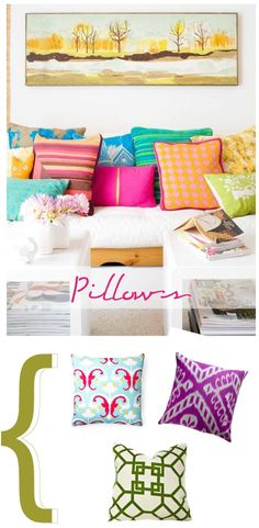 tips to add color || bright, fun pillows #landofnod