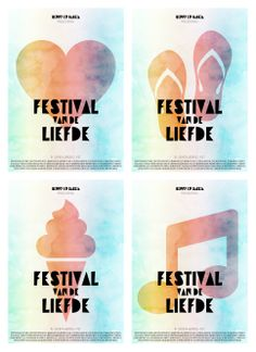 Posters for our upcoming festival!
