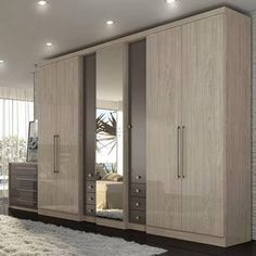 Check out our website for some more bedroom inspiration! Wardrobe Design Bedroom, Bedroom Bed Design, Bedroom Furniture Design, Bedroom Wardrobe, Bedroom Cupboard Designs, Bedroom Cupboards, Wardrobe Door Designs, Closet Designs, Almirah Designs