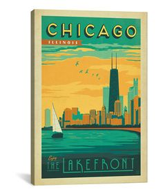 Not a big fan of Chicago but I do like this canvas found at Zulily, several sizes available.