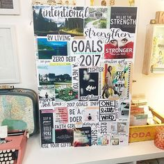 theresetgirl: I just finished filming the Vision Board Party video for the Late Night Crafty Club and I am so excited for you to watch it. I build my 2017 Goals board step by step, and I also share my different formats of building vision pages in my planners (with sneak peeks of my Reset Your Life planner) and share my vision books, the most powerful tool I have used for weight loss/fitness.