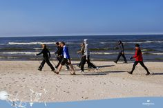 Spacer po zdrowie. Nordic Walking, Cross Training, South Africa, Health Fitness, Exercise, Beach, Outdoor, Ejercicio, Outdoors