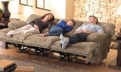 Voyager Triple Reclining Sofa To cuddle or not to cuddle that is the question. Oh my gosh! I need this for our family