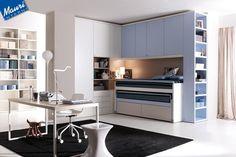 camerette con letti a ponte - arredamento cucine moderne Ernestomeda e camerette cityline