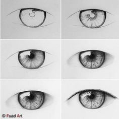 66 Ideas Eye Drawing Tutorial Step By Step Realistic Art Drawings Sketches Simple, Cool Art Drawings, Pencil Art Drawings, Eye Pencil Drawing, Eye Drawing Tutorials, Drawing Techniques, Art Tutorials, Realistic Eye Drawing, Drawing Eyes
