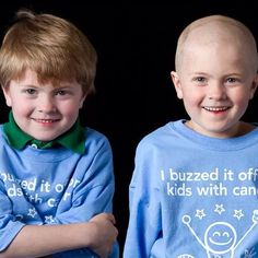 Throwing it back to our 2011 Kid's Cancer Buzz Off! This brave boy shaved it off in honor of children with cancer.