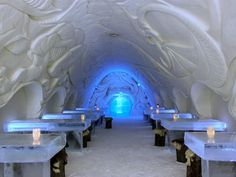 Known as one of the biggest snow structures in the world, the SnowCastle of Kemi, located in Finland, features a SnowRestaurant, a SnowChapel and a SnowHotel.