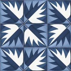 "inset ""carpet"" of tile, with a border, winter garden mood B ""La foglia"" ceramic tiles designed by Gio Ponti #pattern"