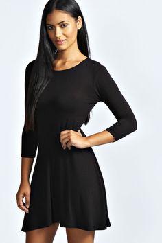 Sara Long Sleeve Viscose Skater Dress