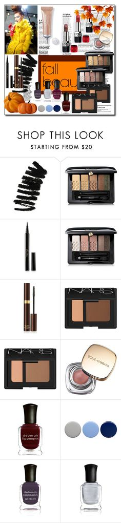 """Fall Beauty"" by sophy-b on Polyvore featuring beleza, Christian Dior, Bobbi Brown Cosmetics, Guerlain, Tom Ford, NARS Cosmetics, Dolce&Gabbana, Deborah Lippmann e Burberry"