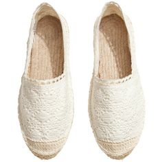 H&M Espadrilles (420 DOP) ❤ liked on Polyvore featuring shoes, sandals, flats, accessories, sneakers, lace-up espadrilles, espadrilles shoes, lace espadrilles flats, lace shoes and h&m flats