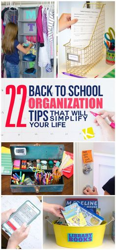 These back to school organization tips are going to help you streamline and simplify your home this fall!