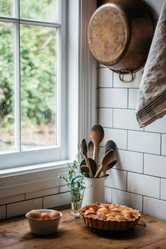 A calm and cheery corner of the kitchen.