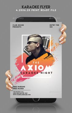Karaoke Night Flyer Design Template - Clubs & Parties Events Flyer Design Template PSD. Download here: https://graphicriver.net/item/karaoke-night-flyer/19447105?ref=yinkira