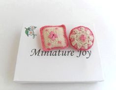 Dollhouse Miniature Nursery Cot Cushions Pillows by MiniatureJoy