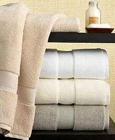 """Good towels are really worth investing in. Pick the wrong ones, and you'll just end up replacing them because they feel scratchy, or they don't dry you off after your shower.  According to a designer friend, and her clients, the best towels are Macy's Hotel Collection """"Microcotton"""" Luxury Towels and Hotel Collection """"Finest"""" Bath Towels."""