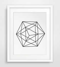 Black and White Geometric Wall Print - Perfect decor for the modern home or office. Print from your home printer or local print shop. Pair