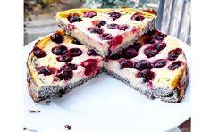 Lisztmentes mákos-meggyes túrótorta Tart Recipes, Sweet Recipes, Dessert Recipes, Cooking Recipes, Desserts, Diet Cake, Tasty, Yummy Food, Healthy Cake
