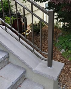 Safety First: Install an Outdoor Stair Railing   Concrete anchors ...