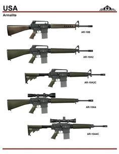 США: Armalite AR-10B, AR-10A2, AR-10A2C, ...