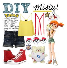 """""""DIY Misty!"""" by kortneybreanne ❤ liked on Polyvore featuring American Eagle Outfitters, Converse, American Apparel, costume, misty, cosplay, halloween and pokemon"""