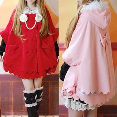"Sweet lolita bowknot hoodie cloak coat SE9351    Coupon code ""cutekawaii"" for 10% off"