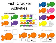 Free fish cracker activity printable and there is also a link for fish cards at the top of the page.