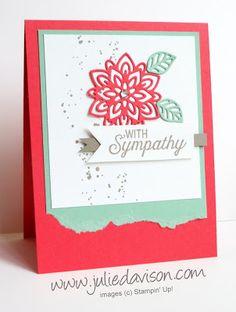 Flourishing Phrases Sympathy Card | Julie's Stamping Spot | Bloglovin'