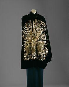 """""""Apollo of Versailles"""" Elsa Schiaparelli  (1890–1973) collection Astrologique     winter 1938–39     silk, metallic"""